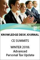 2018 Advanced Personal Tax Update - Knowledge Desk Journal